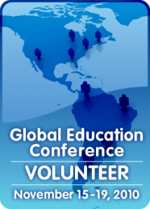 The 2010 Global Education Conference will be held November 15 - 19, 2010, online and free.  Sessions will be held in multiple time zones and multiple languages over the five days.
