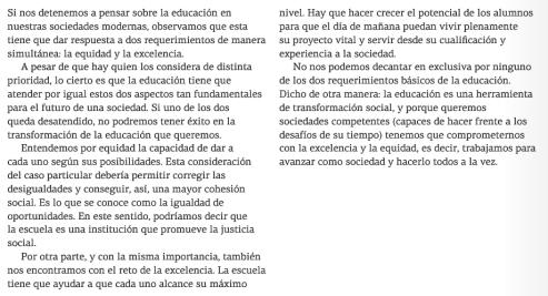 Objetivos de la educacion